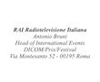 LETTERA ANTONIO BRUNI - RAI RADIO TELEVISIONE ITALIANA