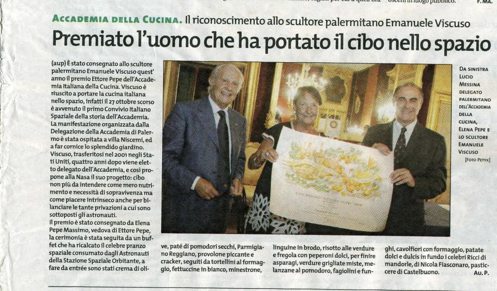 Giornale di Sicilia 9 settembre 2008