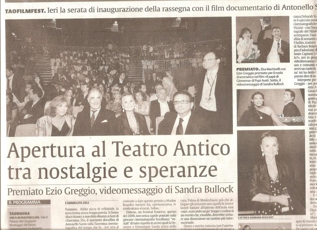 La Sicilia 14 giugno 2009